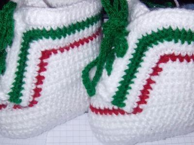 Semelle chaussons au crochet