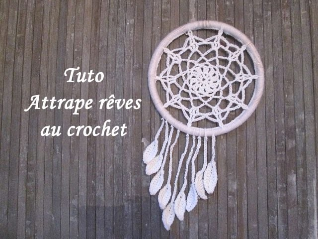 Tuto attrape reves au crochet dream catcher crochet atrapasuenos crochet - Attrape reve crochet ...