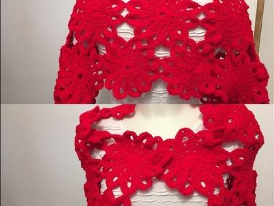 Tuto motif fleur pour étole, chemin de table, gilet au crochet spécial gaucher