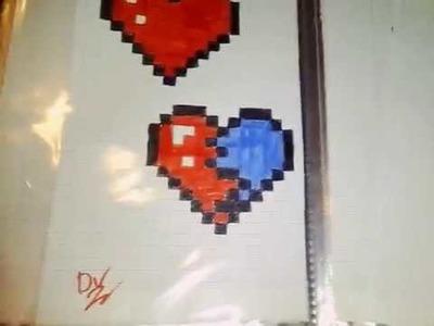 Comment dessiner un cœur brisé en pixel