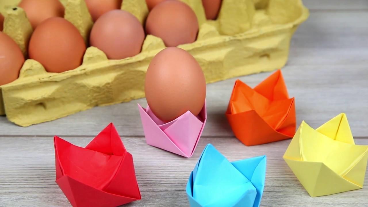 Coquetier en origami