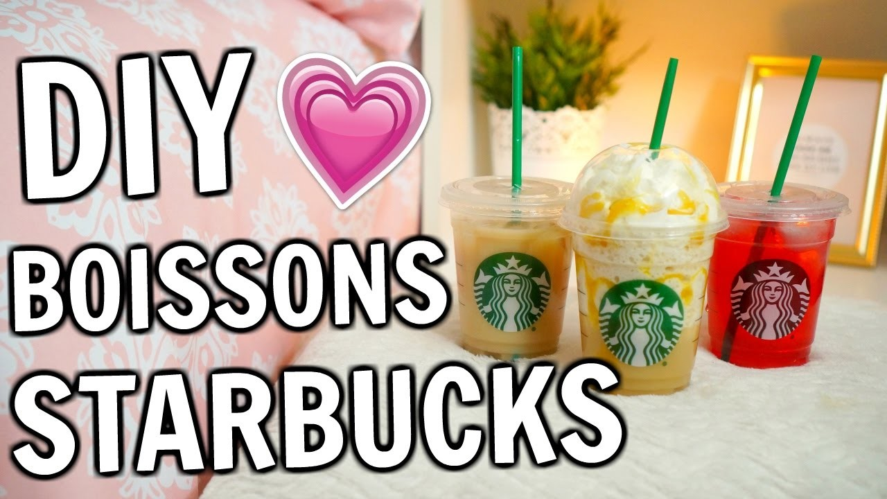 DIY BOISSONS STARBUCKS | Amélie Barbeau