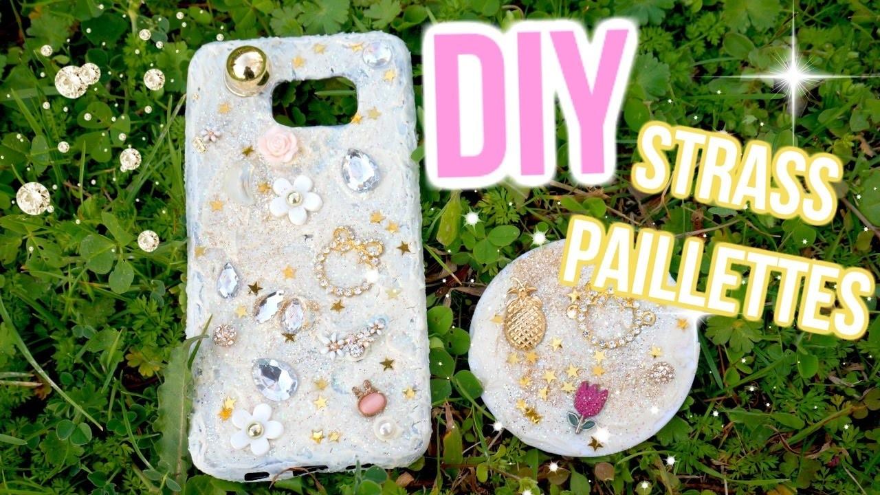 DIY Coque Téléphone + Miroir Strass & Paillettes????