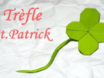 Origami : Trèfle de la Saint-Patrick  !