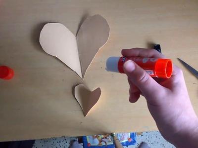 DIY carte papillon coeur fête des grand mère.
