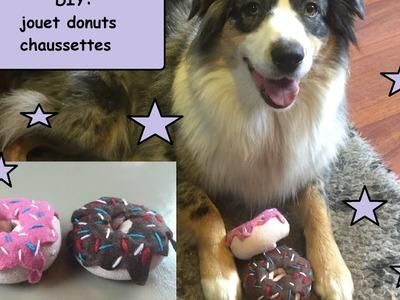 DIY doudou donuts chaussette pour chien
