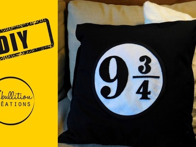 DIY Harry Potter - coussin plateforme 9 3.4 - Plattform 9 3.4 cushion - harry potter pillow