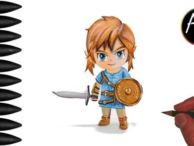 "Speed Drawing: Link de Zelda breath of the wild ""dessin cartoon chibi"""