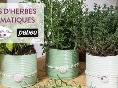 Tuto DIY : Pots d'herbes aromatiques en plâtre - Botanique Nature