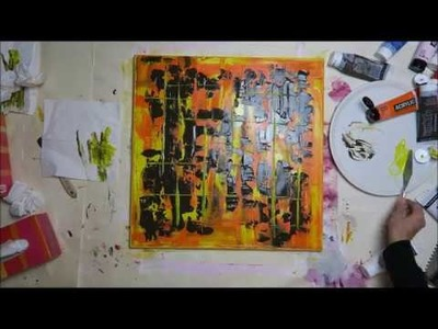 BecomeTheArtist.com : DIY Peinture acrylique facile - MODERN 2