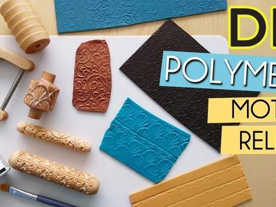DIY ┋ POLYMERE. Comment texturer et donner du relief à sa pâte avec un rouleau en bois ?