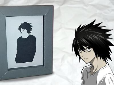 Fabriquer des cadres silhouettes Death Note - Tuto DIY facile !