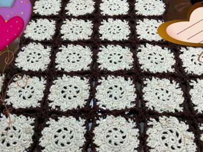 Mantel de granny a crochet - crochet viral - paso a paso