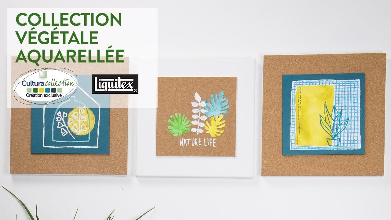 Tuto DIY : Collection végétale aquarellée - Green