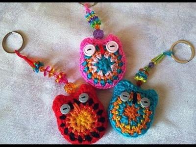 Crochet porte clés Hibou