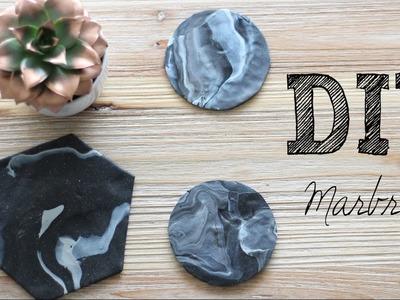 DIY #17 - Déco marbre l Créer ses dessous de verres & dessous de plat marbre