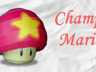 Papercraft : Champignon de Mario, Musique Mario Harpe !