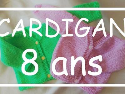 Tricot Facile - Tuto Cardigan (8 ans) - Debutant - Easy Knitting - Beginner