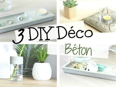 △ DIY déco | 3 objets en béton pour mon salon bohème (facile+rapide)