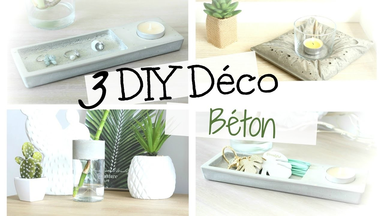 diy d co 3 objets en b ton pour mon salon boh me facile. Black Bedroom Furniture Sets. Home Design Ideas