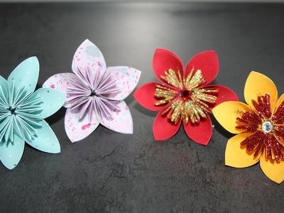 DIY : Faire des fleurs en papier (5 ou 6 pétales)
