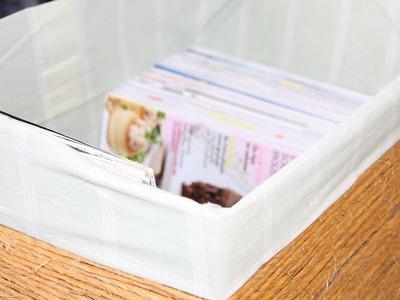 DIY : faire une box de rangement avec un carton à la base !!!