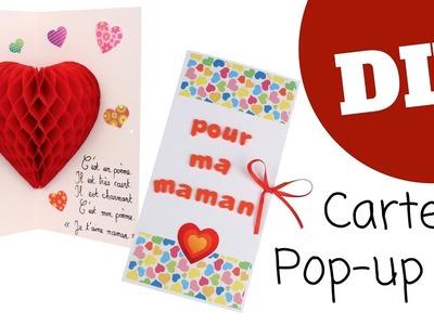 Fabriquer une carte pop-up Coeur (DIY. Tutoriel vidéo Fête des mères 10 Doigts)