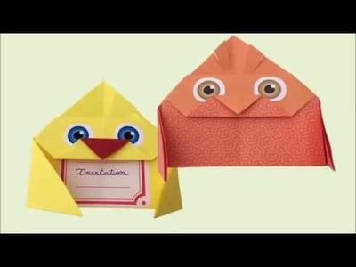 La chouette invitation Origami pour les petits