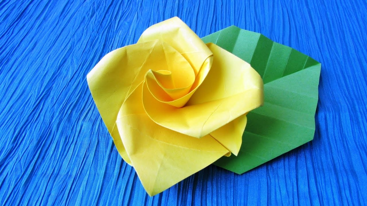 Origami french - Origami rose facile a faire ...