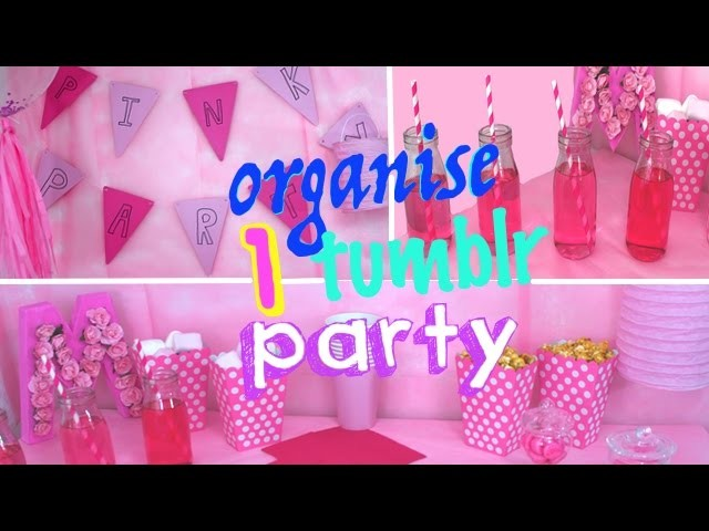 reva ytb diy pink party comment organiser une f te pas cher. Black Bedroom Furniture Sets. Home Design Ideas