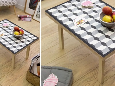 Table basse avec carreaux de ciment DIY