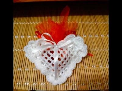 Tuto bonbonnière coeur au crochet spécial gaucher