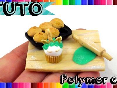 { TUTO } Miniature cupcake licorne en FIMO | Polymer Clay miniature cupcake unicorn