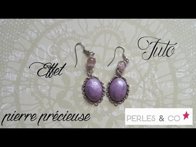TUTO FIMO: Effet pierre précieuse ♫ Perles and Co ♫ - polymer tutorial gemstone effect