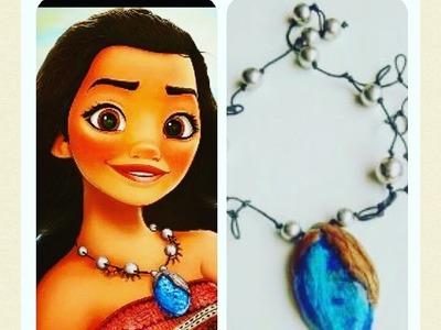 Tuto fimo polymere collier de Vaiana La Légende du bout du Monde DISNEY
