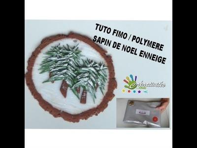 TUTO #FIMO #POLYMERE  DE NOEL SAPiN ENNEIGE