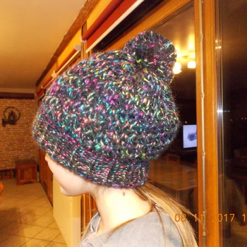 Bonnet en laine fait maison - Point Grenouille