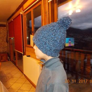 Bonnet en Laine fait Maison - Torsades